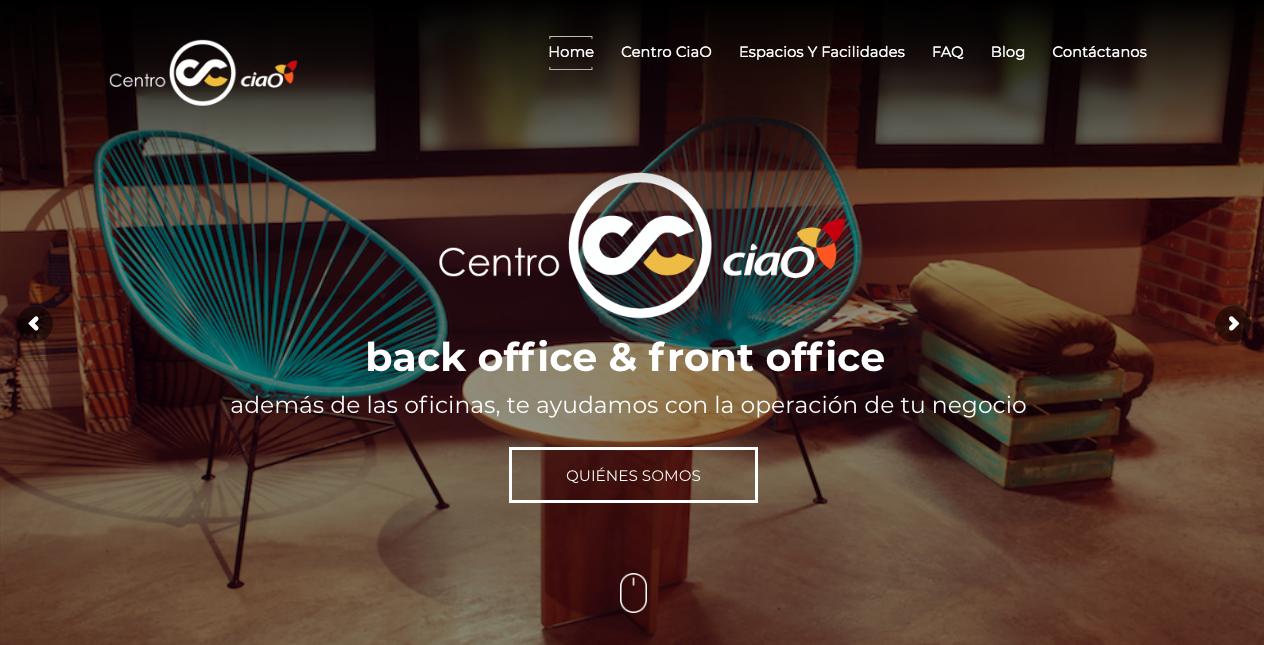 Proyecto: Sitio Web | Cliente: Centro ciaO | Cielo Rojo Comunicación Digital