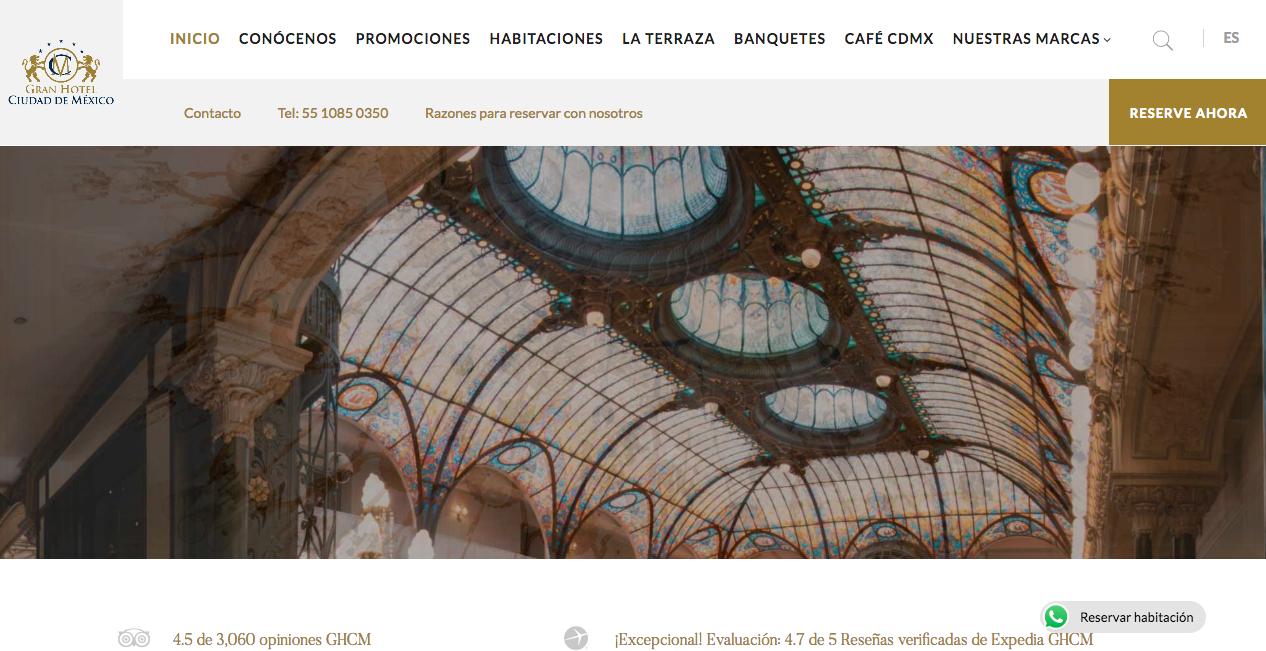 Proyecto: Redacción de Contenidos para Sitio Web | Cliente: Gran Hotel de la Ciudad de México | Cielo Rojo Comunicación Digital