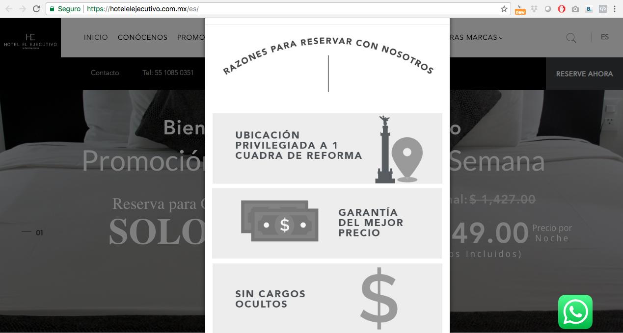 Proyecto: Redacción de Contenidos para Sitio Web | Cliente: Gran Hotel de la Ciudad de México - Hotel El Ejecutivo | Cielo Rojo Comunicación Digital