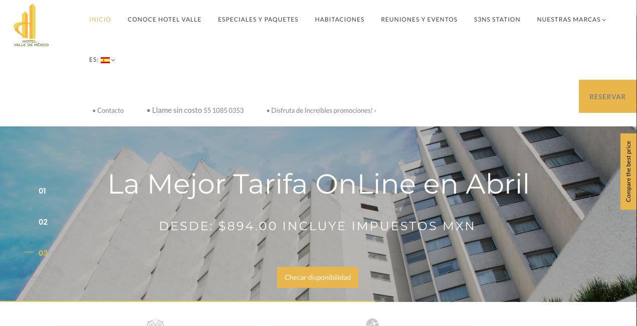 Proyecto: Redacción de Contenidos para Sitio Web | Cliente: Gran Hotel de la Ciudad de México - Hotel Valle de México | Cielo Rojo Comunicación Digital