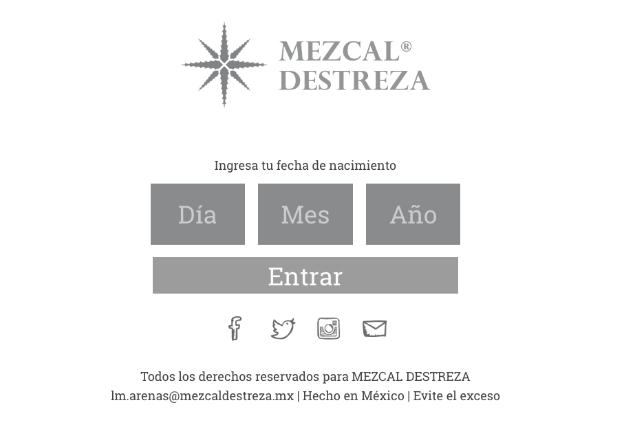 Proyecto: Sitio Web Wordpress | Cliente: Mezcal Destreza | Cielo Rojo Comunicación Digital