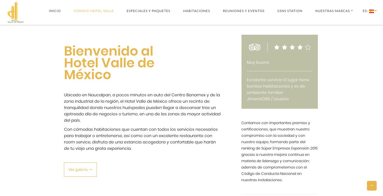 Proyecto: Redacción de Contenidos para Sitio Web   Cliente: Gran Hotel de la Ciudad de México - Hotel Valle de México   Cielo Rojo Comunicación Digital