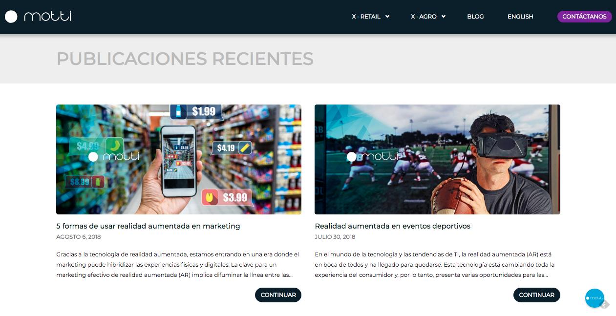Proyecto: Inbound Marketing | Cliente: Motti | Cielo Rojo Comunicación Digital