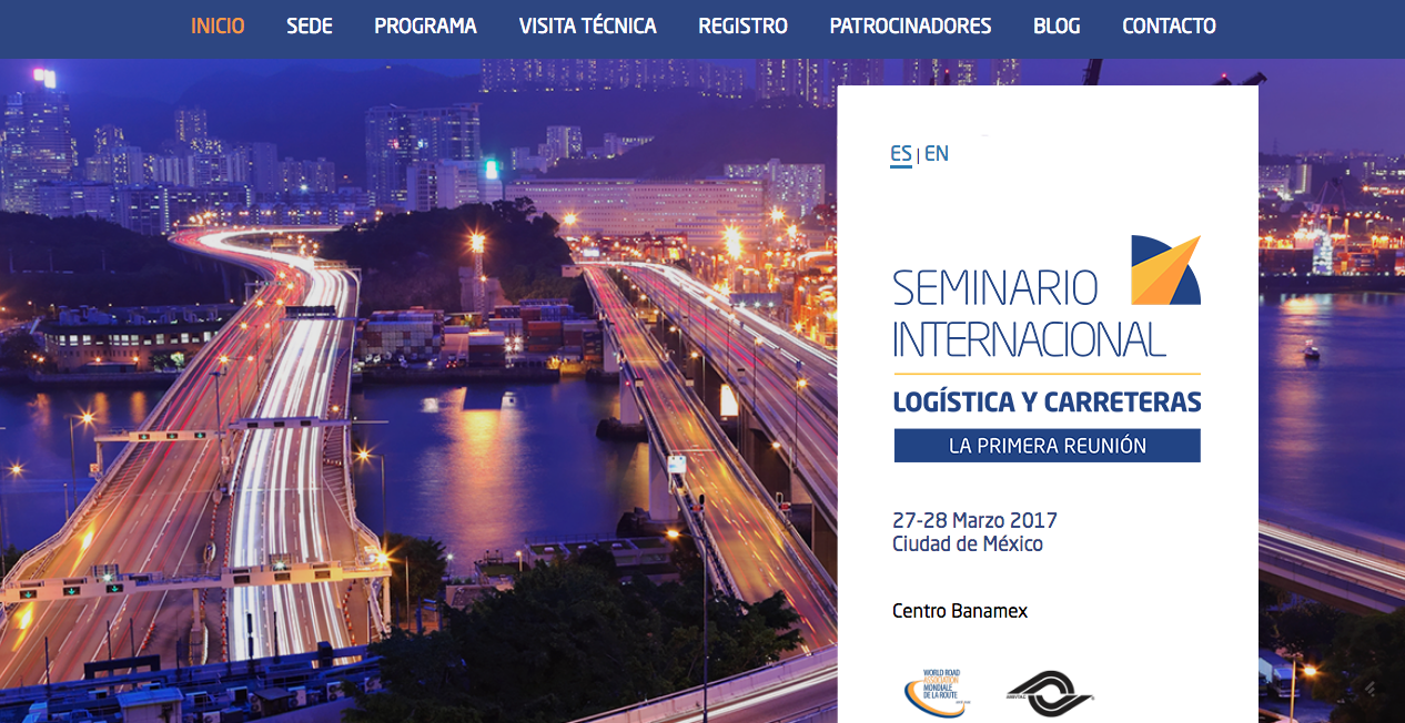 Proyecto: Organización de evento internacional | Cliente: Seminario Internacional Logística y Carreteras | Cielo Rojo Comunicación Digital